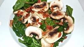 Salad With Mushrooms Wallpaper Download