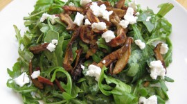 Salad With Mushrooms Wallpaper Full HD