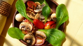Salad With Mushrooms Wallpaper Gallery