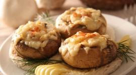 Stuffed Mushrooms Wallpaper