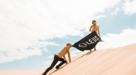 Surfing The Sand Wallpaper High Definition