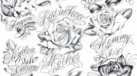 Tattoos In Chicano Style Wallpaper For Desktop