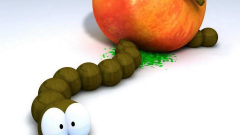The Worm In The Apple wallpapers high quality
