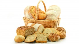 4K Basket With Bread Photo Download