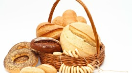 4K Basket With Bread Wallpaper Full HD#1
