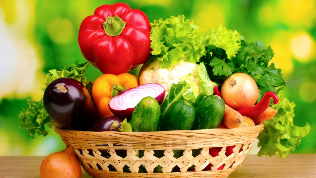 4K Basket With Vegetables wallpapers HD