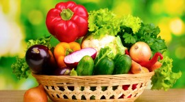 4K Basket With Vegetables Best Wallpaper