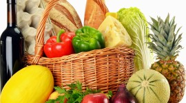 4K Basket With Vegetables Pics