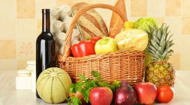 4K Basket With Vegetables Photo