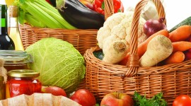 4K Basket With Vegetables Photo#1