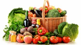 4K Basket With Vegetables Wallpaper 1080p