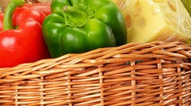 4K Basket With Vegetables Wallpaper For Mobile