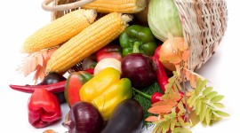 4K Basket With Vegetables Wallpaper Free