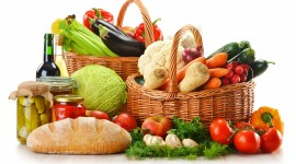 4K Basket With Vegetables Wallpaper Full HD