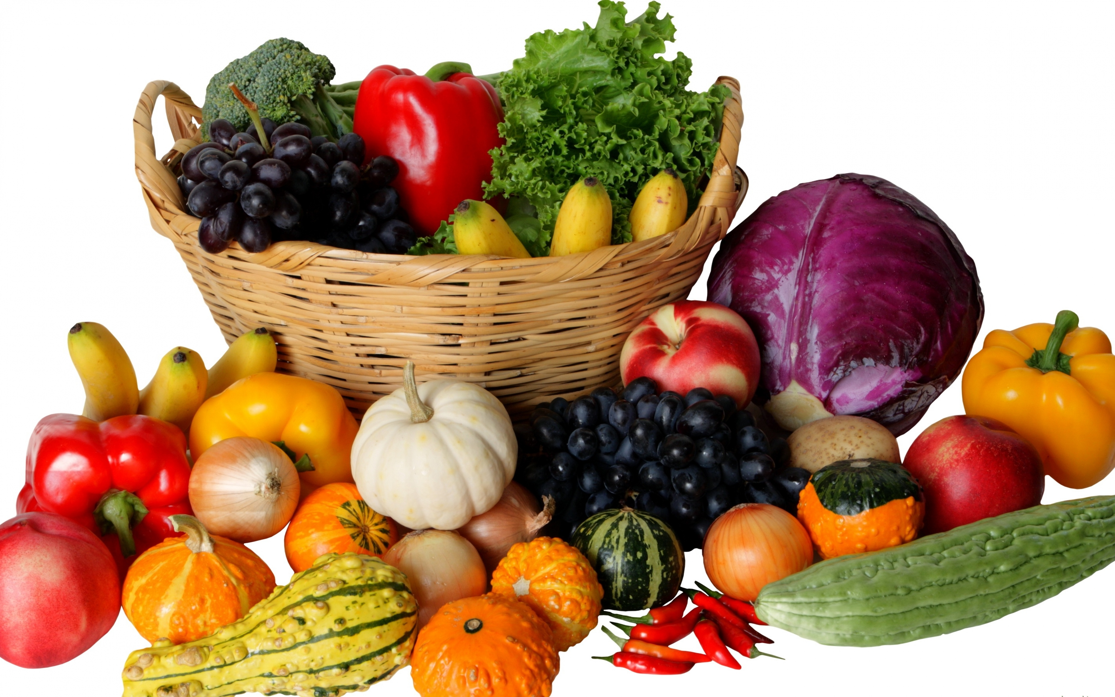 4K Basket With Vegetables Wallpapers High Quality