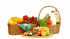 4K Basket With Vegetables Wallpaper HQ