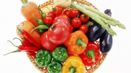 4K Basket With Vegetables Wallpaper HQ#1