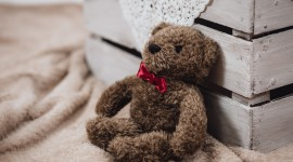 4K Teddy Bear Toy Desktop Wallpaper HD