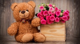 4K Teddy Bear Toy Wallpaper For Desktop