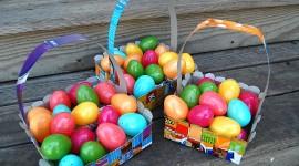 Baskets For Easter Desktop Wallpaper HD
