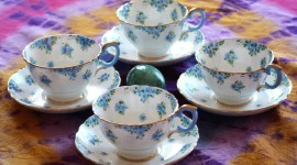 Blue Dishes Best Wallpaper