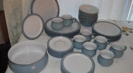 Blue Dishes Desktop Wallpaper HD