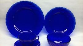 Blue Dishes Photo