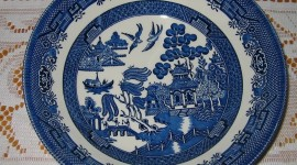Blue Dishes Photo Download