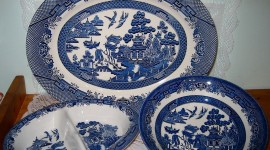 Blue Dishes Photo Download#1
