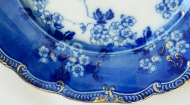 Blue Dishes Photo Free#1