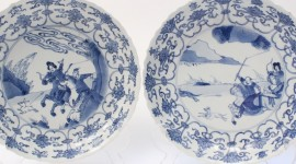 Blue Dishes Wallpaper Download