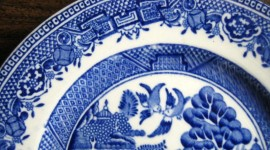 Blue Dishes Wallpaper For Desktop