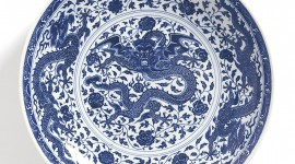 Blue Dishes Wallpaper For Mobile