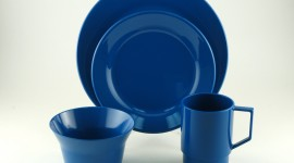 Blue Dishes Wallpaper For PC