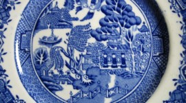 Blue Dishes Wallpaper Gallery
