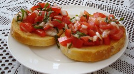 Bruschetta With Tomatoes Best Wallpaper