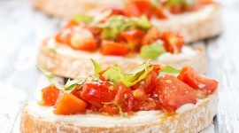 Bruschetta With Tomatoes High Quality Wallpaper