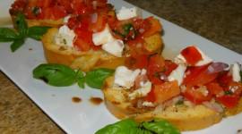 Bruschetta With Tomatoes Wallpaper
