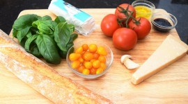 Bruschetta With Tomatoes Wallpaper Download