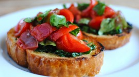 Bruschetta With Tomatoes Wallpaper Download Free