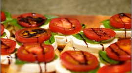 Bruschetta With Tomatoes Wallpaper For Desktop