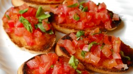 Bruschetta With Tomatoes Wallpaper For IPhone