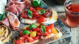 Bruschetta With Tomatoes Wallpaper For IPhone 6