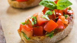 Bruschetta With Tomatoes Wallpaper For IPhone 6 Download