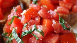 Bruschetta With Tomatoes Wallpaper For IPhone Download