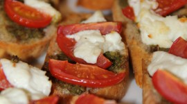 Bruschetta With Tomatoes Wallpaper For Mobile