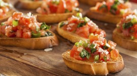 Bruschetta With Tomatoes Wallpaper HQ