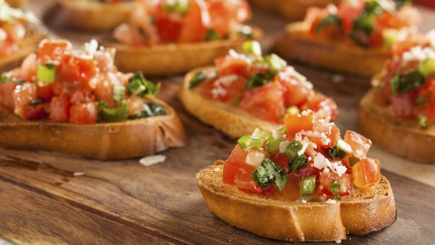Bruschetta With Tomatoes wallpapers high quality