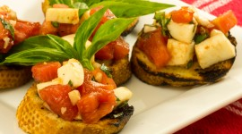 Bruschetta With Tomatoes Wallpaper High Definition