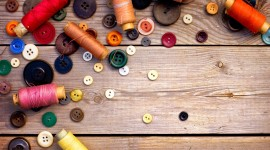 Buttons And Threads Wallpaper